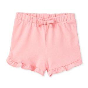 NWT PLACE Girls Pink Ruffle Shorts 12-18mo